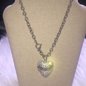 Juicy Couture silver chain necklace